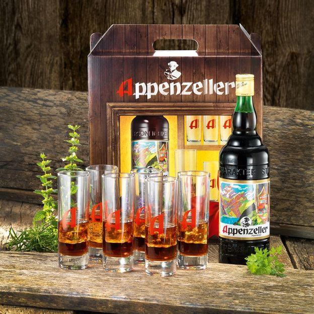 Appenzeller Alpenbitter Packung inkl. Longdrink Gläser