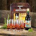 Appenzeller Alpenbitter, 100cl, Packung inkl. Longdrink Gläser