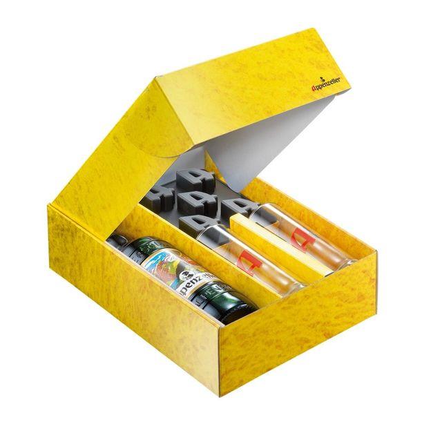 Appenzeller Alpenbitter, 50cl, Packung inkl. Eiswürfelform und Longdrink Gläser