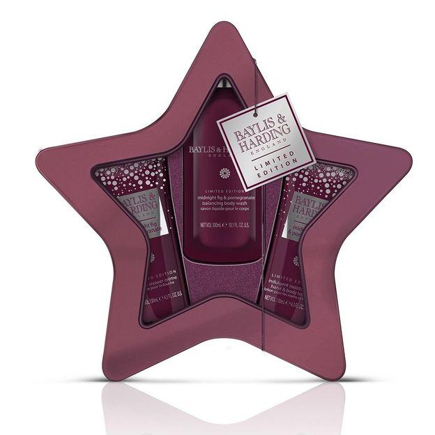 Körperpflegeset Sternschachtel von Baylis & Harding Midnight Fig & Pomegranate