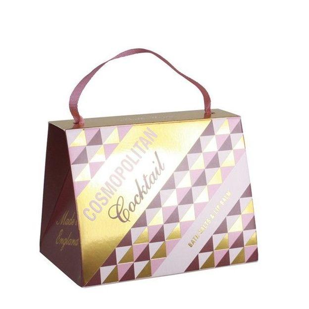 Geschenkset Cocktail Pastels mit Lippenbalsam und Badesalz Cosmopolitan