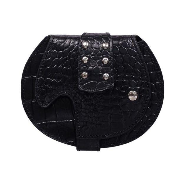 Porte-monnaie en forme de guitare électrique en cuir