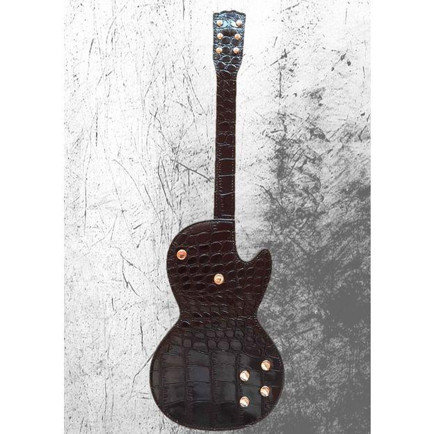 Portemonnaie in Form einer elektrischen Gitarre aus echtem Leder