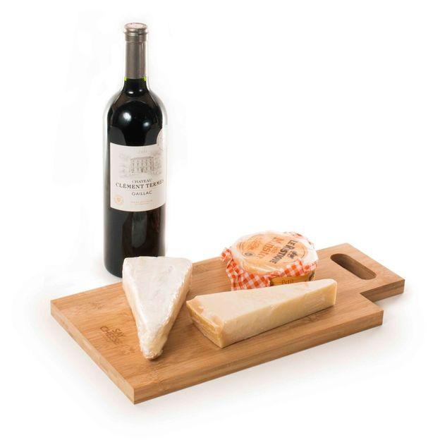 Weinverpackung und Käsebrett Rackpack  2 in 1 aus Holz