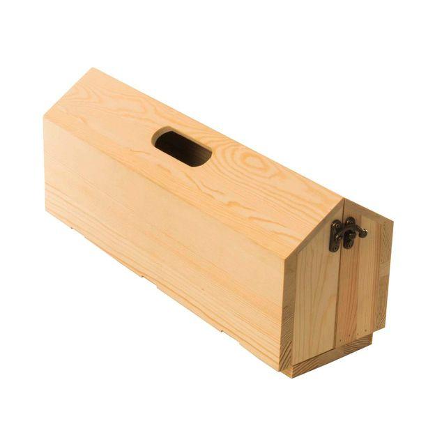 Weinverpackung und Tablett Rackpack 2 in 1 aus Holz