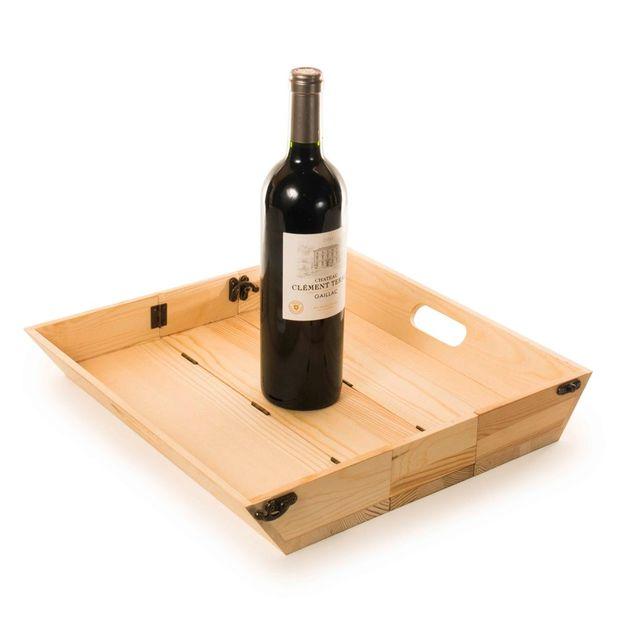Coffret de vin et plateau 2 en 1