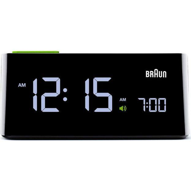 Braun LCD Wecker mit Adapter