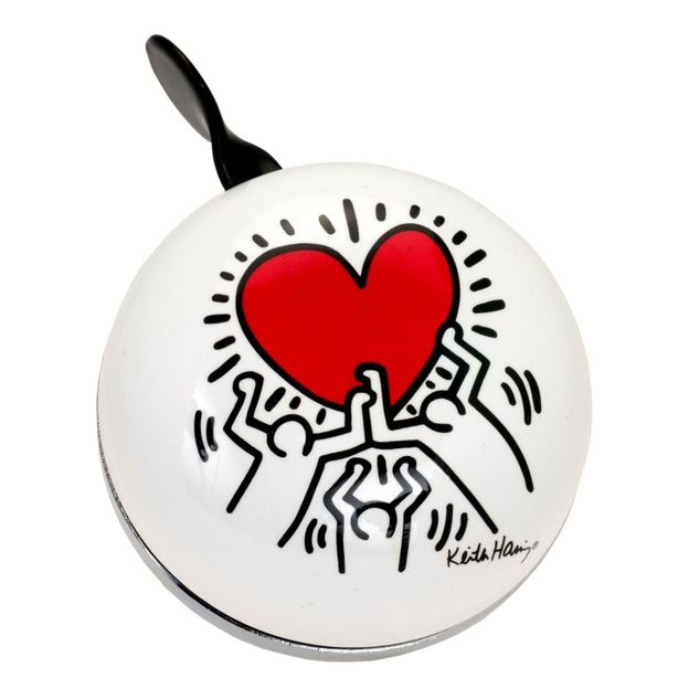 Sonnette de vélo Ding Dong Coeur de Keith Haring