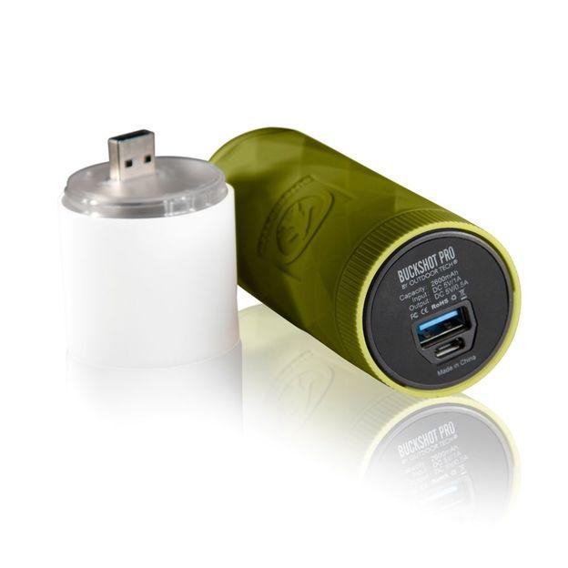 Outdoor Tech Buckshot Pro - 3 en 1 vert phosphorescent