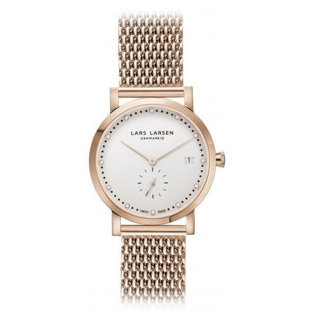 Montre femme Lars Larsen Or Rose Mesh 35mm