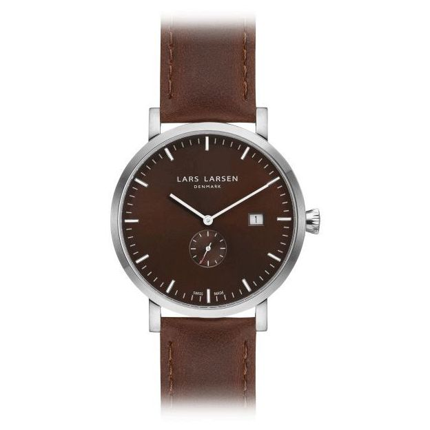 Lars Larsen Herrenuhr Brown Brown Leather