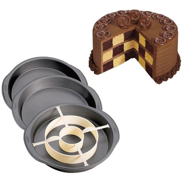 Kuchenform mit Schachbrettmuster