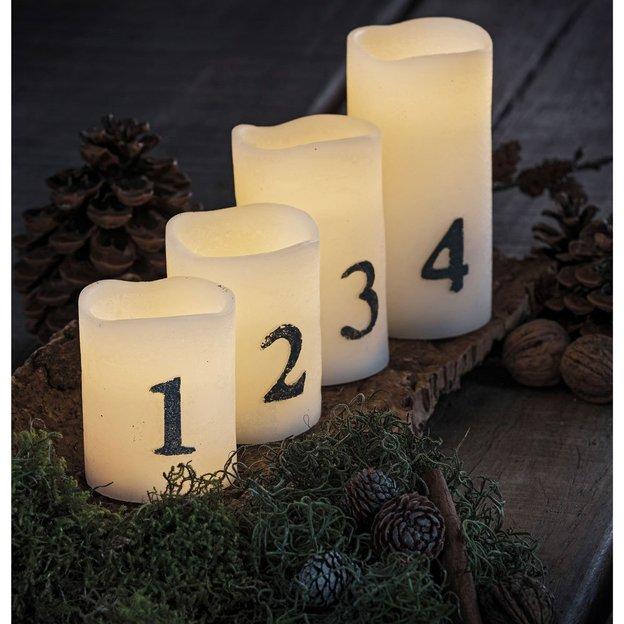 LED Adventskerzen Tenna 4er Set