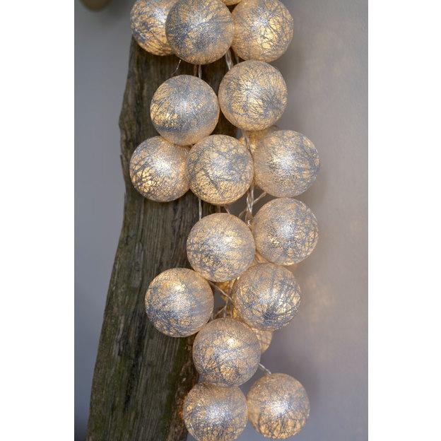 Bolette LED Lichterkette silver