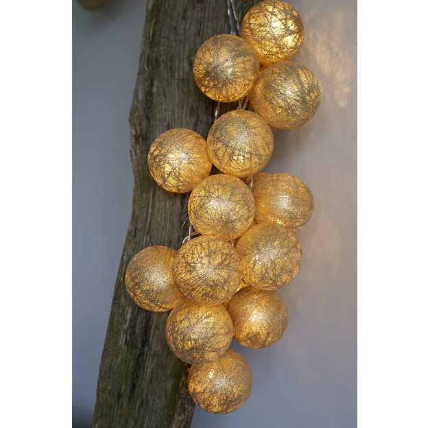 Bolette LED Lichterkette gold