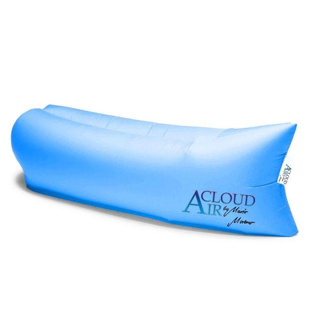 Sofa pouf gonflable Chillout Bleu azur