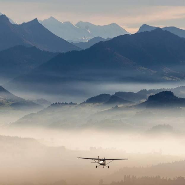 Flugzeugrundflug über Luzern