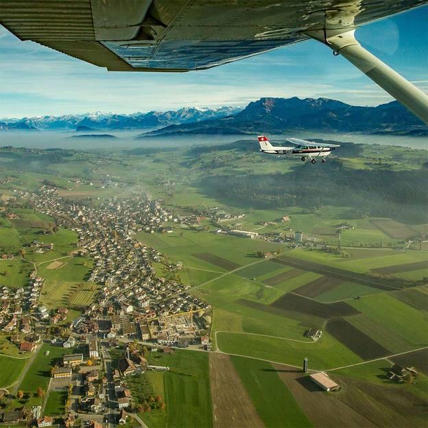 Flugzeugrundflug Jungfraujoch