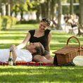 Pique-nique romantique au bord du lac de Zurich. (Gourmet)