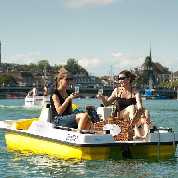 Gourmet-Picknick am Zürichsee im Sommer