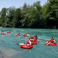 Rivertubing auf der Aare von Uttigen nach Bern