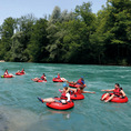 Rivertubing auf der Aare von Münsingen nach Bern