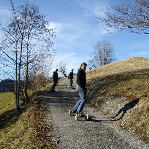 Mountainboarden in St. Anton AI