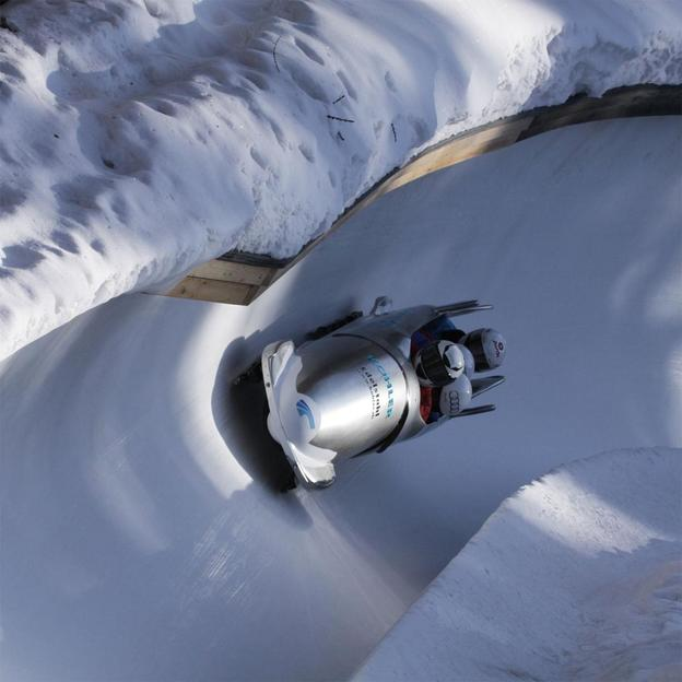 Bob fahren in St. Moritz