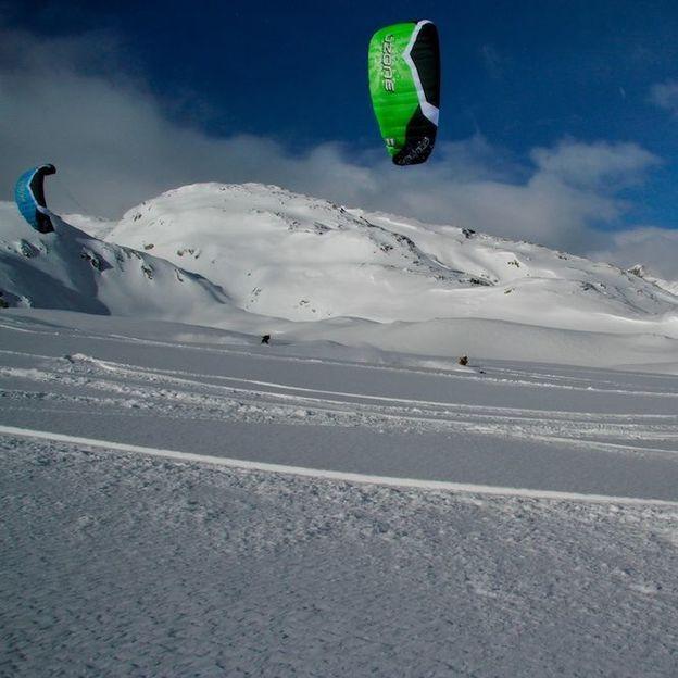 Snowkite cours de base
