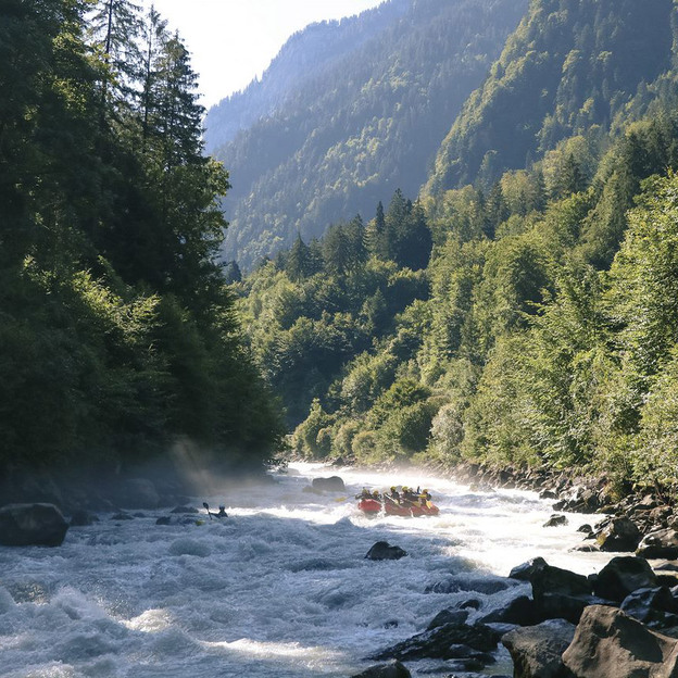 Rafting rivière Lütschine BE
