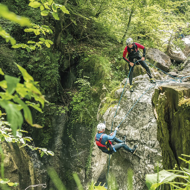 Canyoning Saxeten dans le canton de Berne