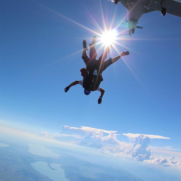 Saut en tandem parachute à Granges
