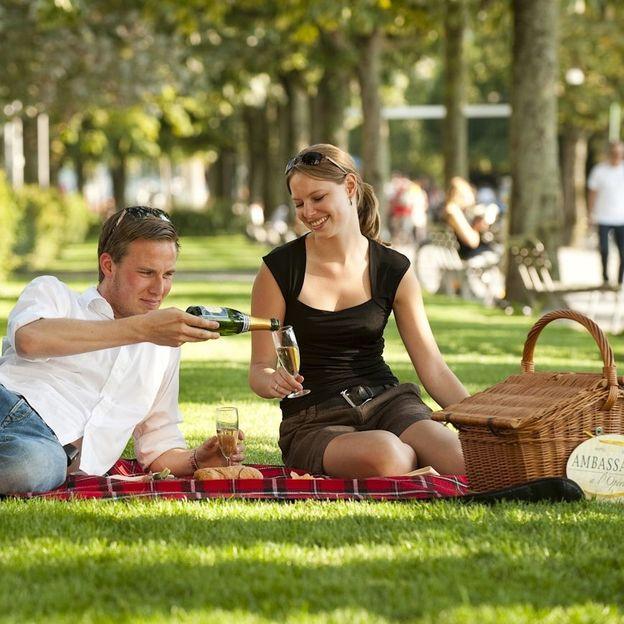 Pique-nique romantique au bord du lac de Zurich (végétarien)
