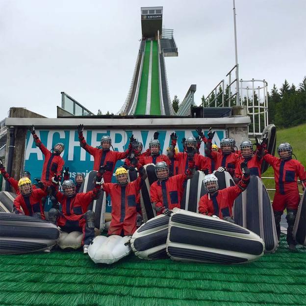 Airboarden Sprungschanzen Einsiedeln