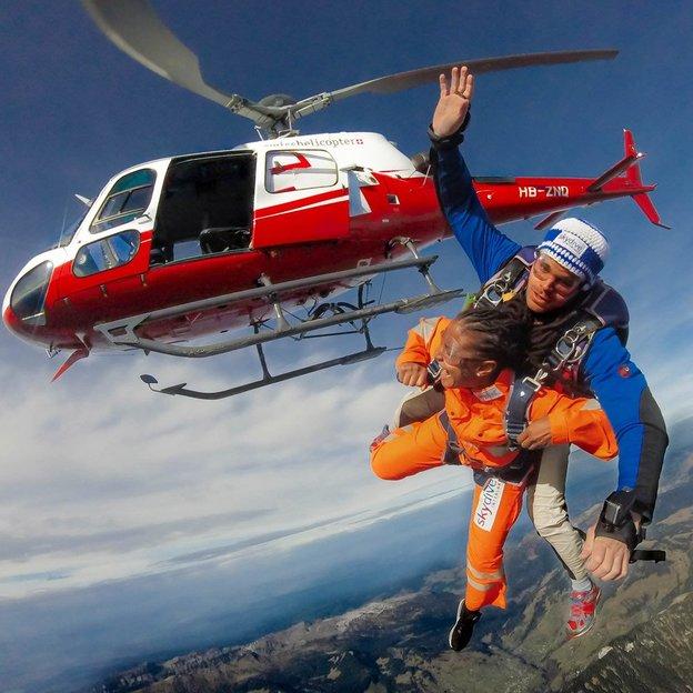 Heli Skydiving Eiger View