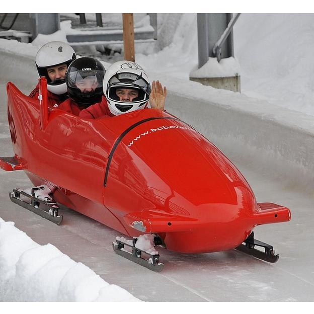 Expérience Bobsleigh avec Marcel Rohner à St Moritz
