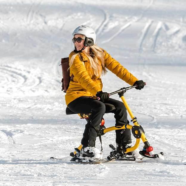 Snowbike - im Sitzen über die Pisten flitzen