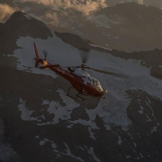Vol en hélicoptère Bernina et Bergell environ 30 minutes