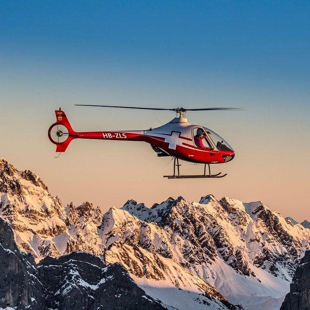 Helikopter Schnupperflug (Schweizer 300C) ab Gruyéres 40 Minuten