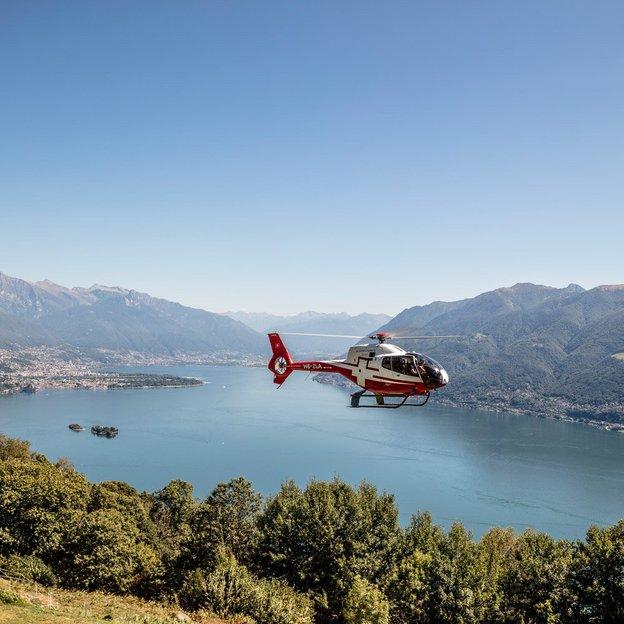 Helikopter Rundflug: Städte und Täler im Tessin