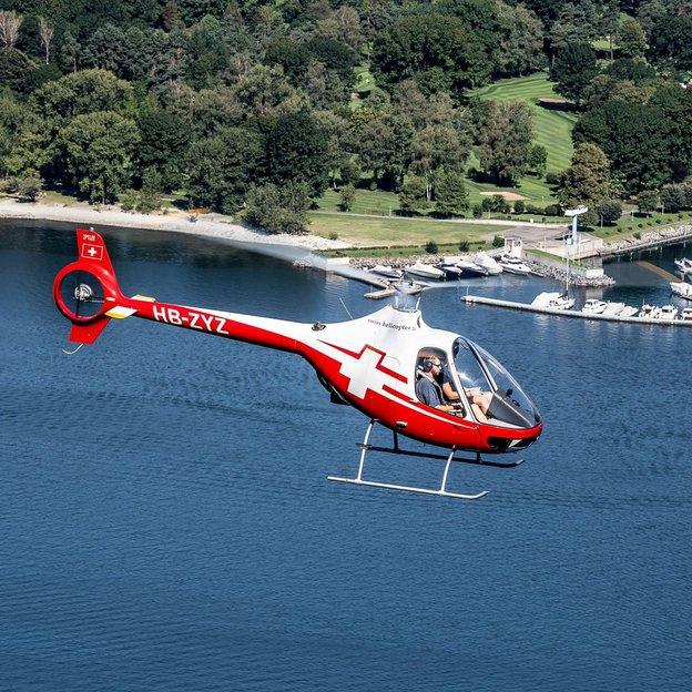 Helikopter Schnupperflug HU 300 ab Gordola bei Locarno