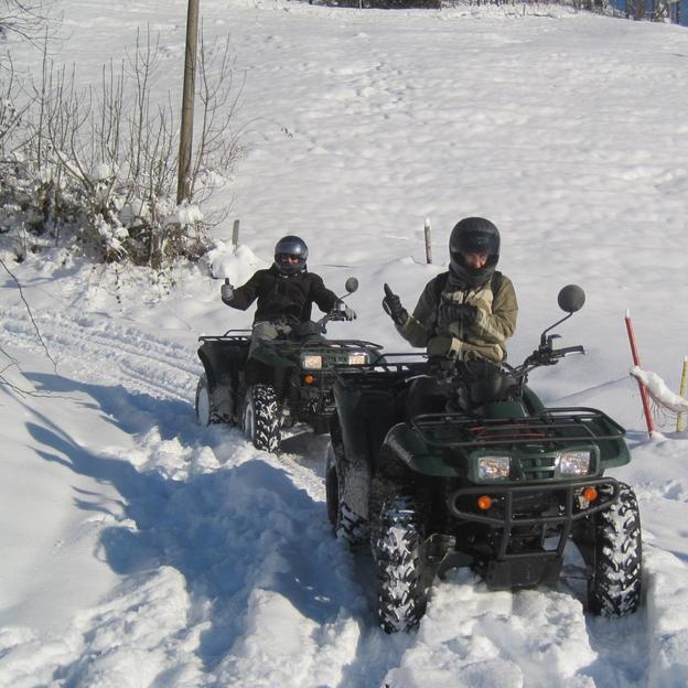 Quad dans la neige