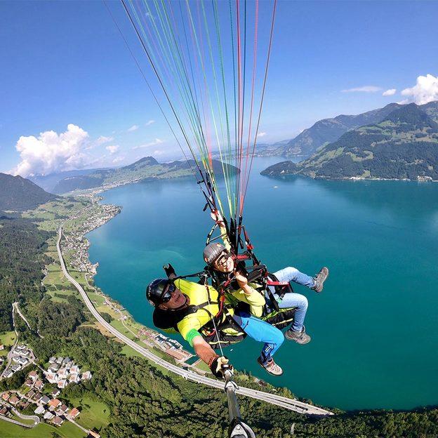 Gleitschirm Passagierflug in der Zentralschweiz (20 Minuten)