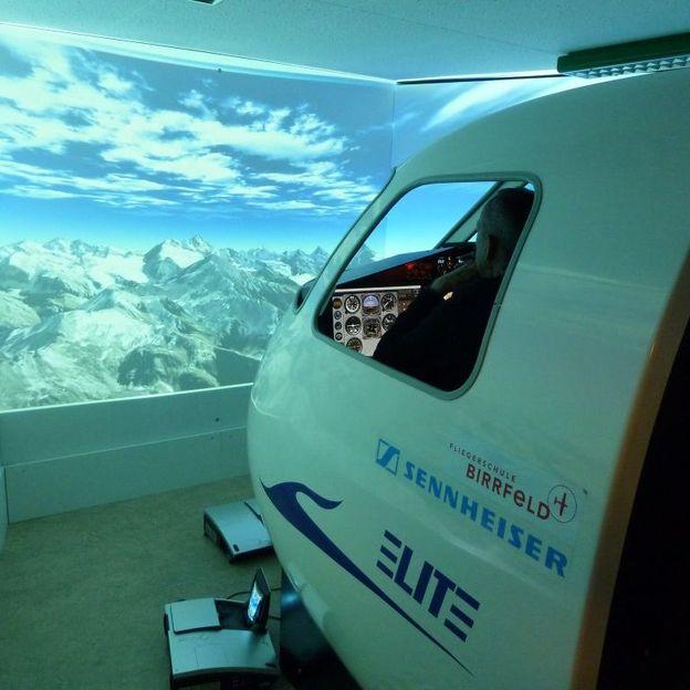 Alpenrundflug im Flugsimulator
