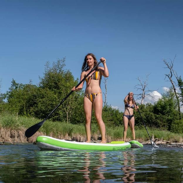 Stand Up Paddle Surfing auf der Aare