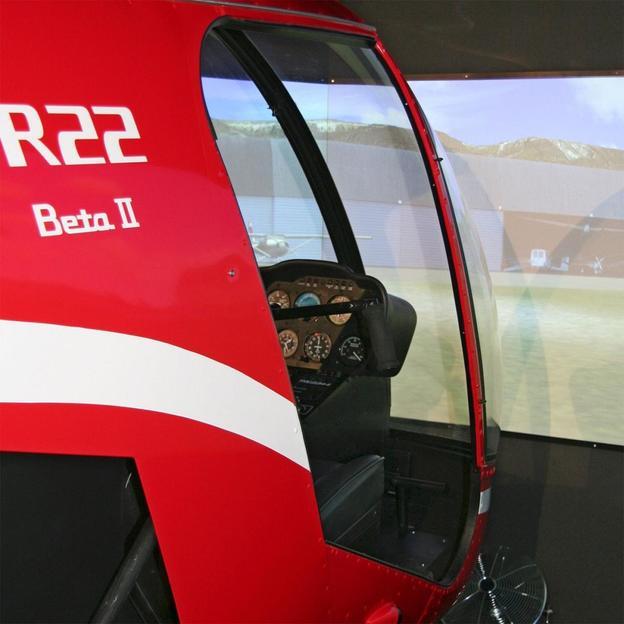 Simulation de vol en hélicoptère Robinson R22Beta