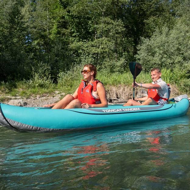 Kayak et pizza sur le lac de Thoune