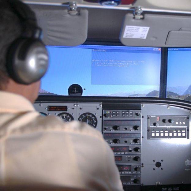 Flugsimulation mit einer Cessna 172