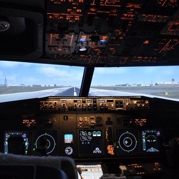 Flugsimulator im Airbus A320 Cockpit (60 Minuten)