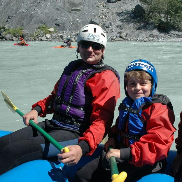 Rafting mit der ganzen Familie